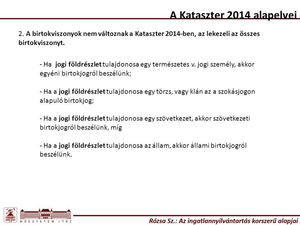 A Kataszter 2014 alapelvei 2.