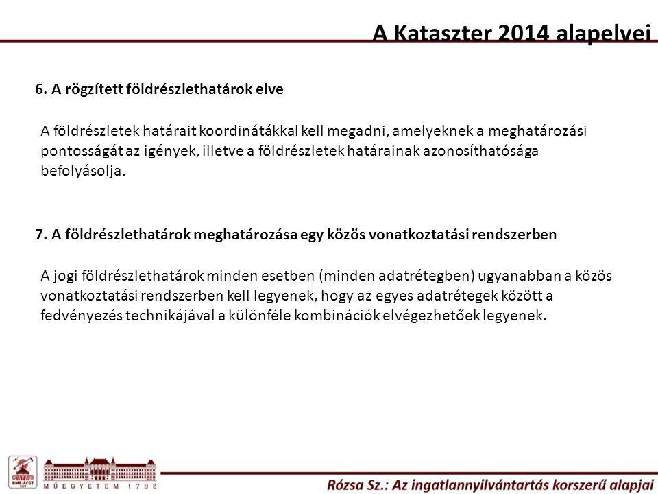 A Kataszter 2014 alapelvei 6.