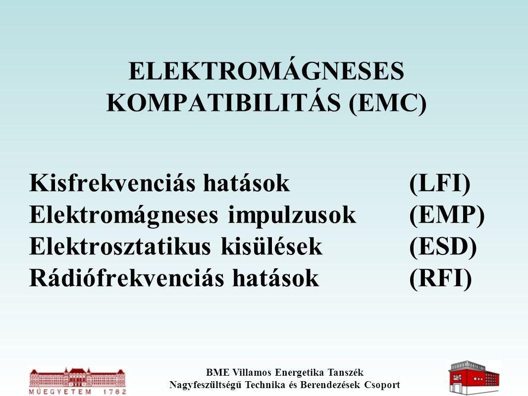 BME Villamos Energetika Tanszék Nagyfeszültségű Technika és Berendezések Csoport ELEKTROMÁGNESES KOMPATIBILITÁS (EMC) Kisfrekvenciás hatások(LFI) Elek