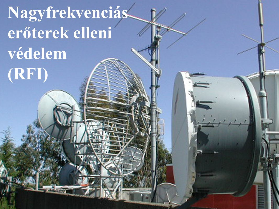 BME Villamos Energetika Tanszék Nagyfeszültségű Technika és Berendezések Csoport Nagyfrekvenciás erőterek elleni védelem (RFI)