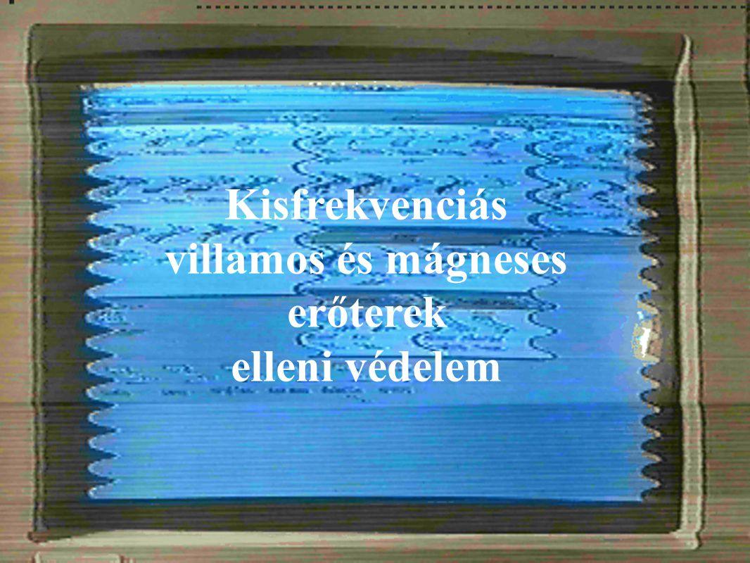 BME Villamos Energetika Tanszék Nagyfeszültségű Technika és Berendezések Csoport Kisfrekvenciás villamos és mágneses erőterek elleni védelem