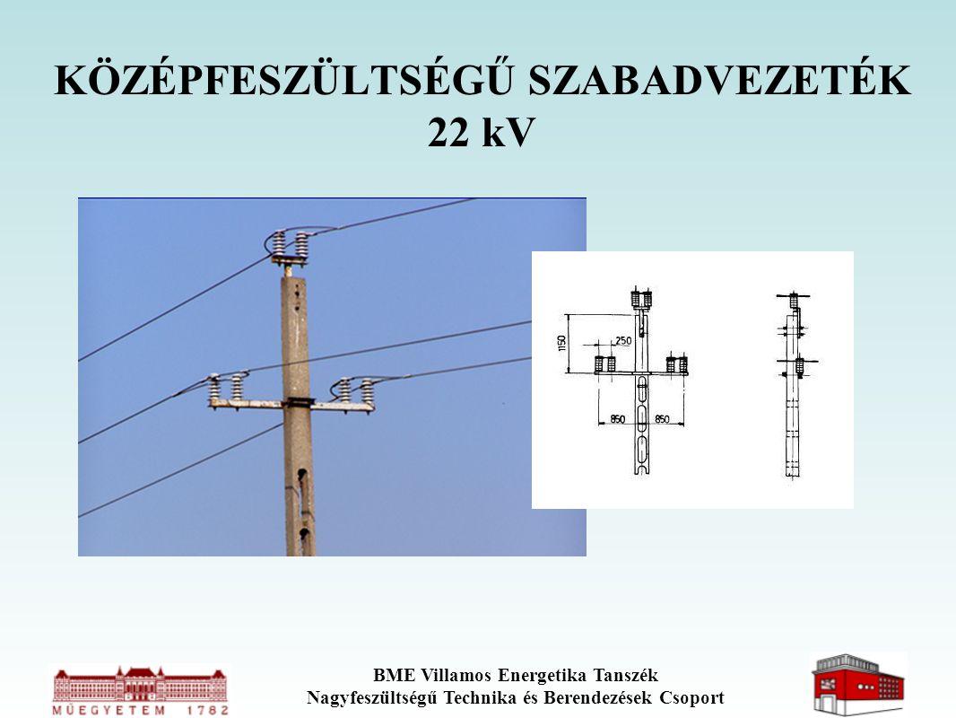 BME Villamos Energetika Tanszék Nagyfeszültségű Technika és Berendezések Csoport KÖZÉPFESZÜLTSÉGŰ SZABADVEZETÉK 22 kV