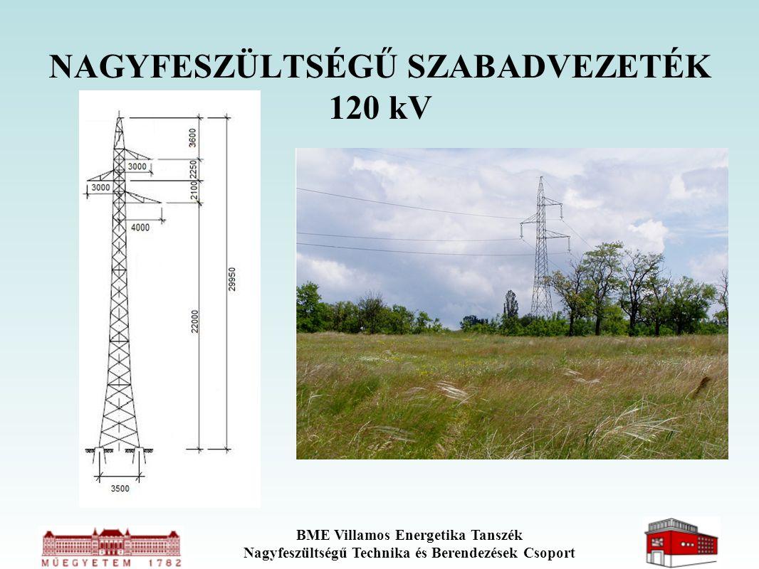BME Villamos Energetika Tanszék Nagyfeszültségű Technika és Berendezések Csoport NAGYFESZÜLTSÉGŰ SZABADVEZETÉK 120 kV