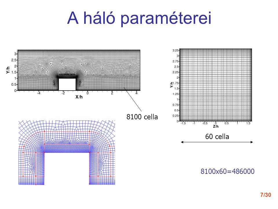 7/30 A háló paraméterei 60 cella 8100x60=486000 8100 cella