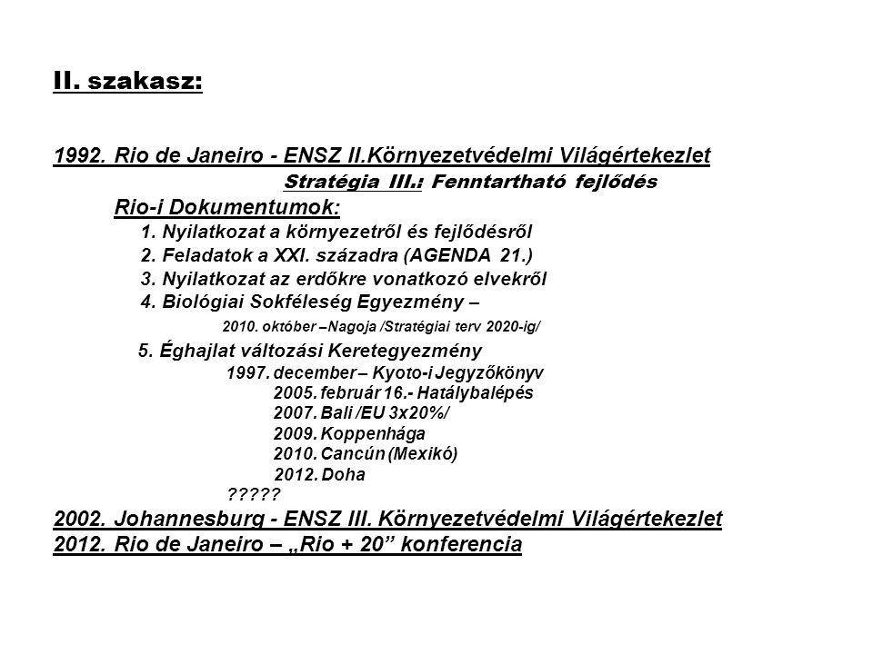 2002.Johannesburg - ENSZ III. Környezetvédelmi Világértekezlet Dokumentumok: 1.