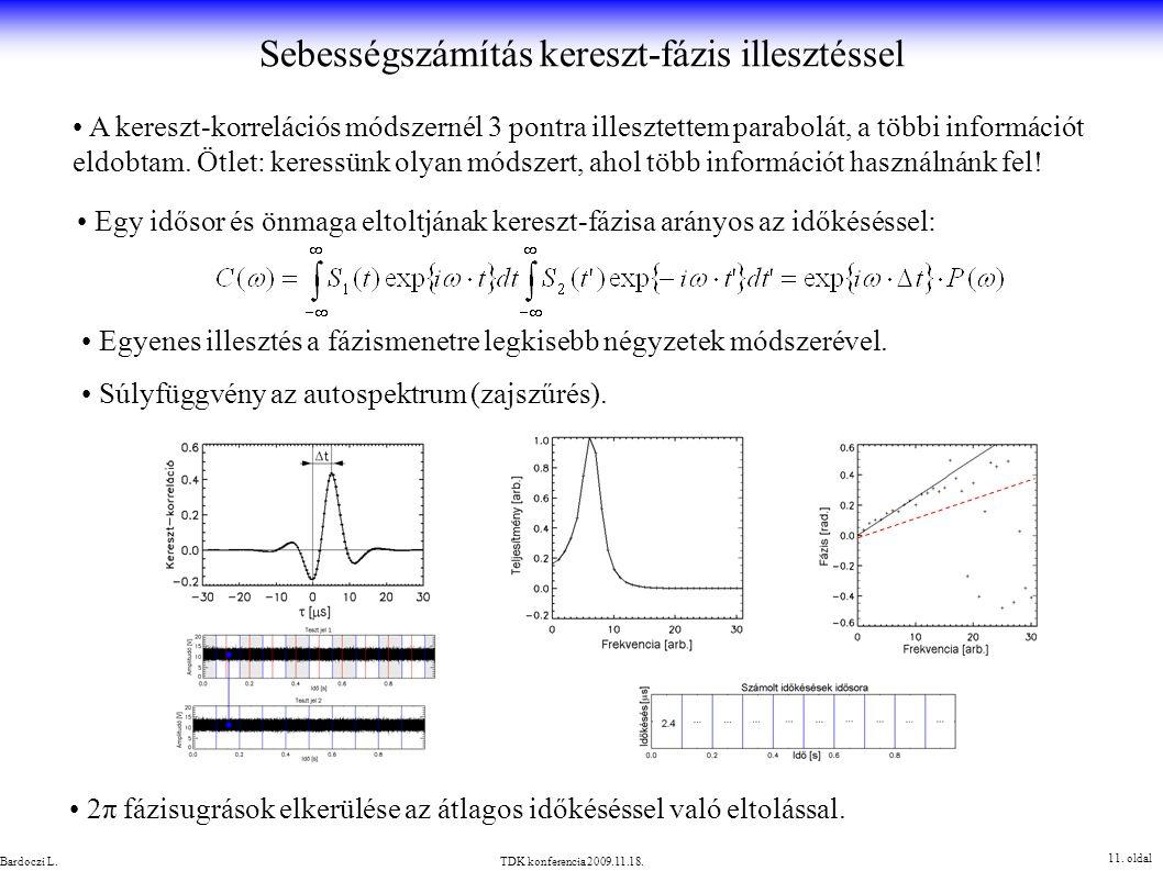 A kereszt-korrelációs módszernél 3 pontra illesztettem parabolát, a többi információt eldobtam. Ötlet: keressünk olyan módszert, ahol több információt