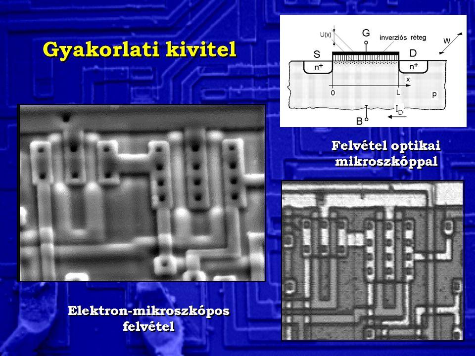 Elektron-mikroszkópos felvétel Felvétel optikai mikroszkóppal Gyakorlati kivitel