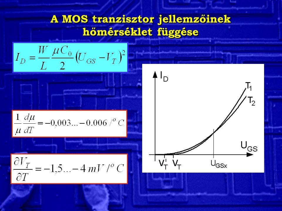 A MOS tranzisztor jellemzőinek hőmérséklet függése