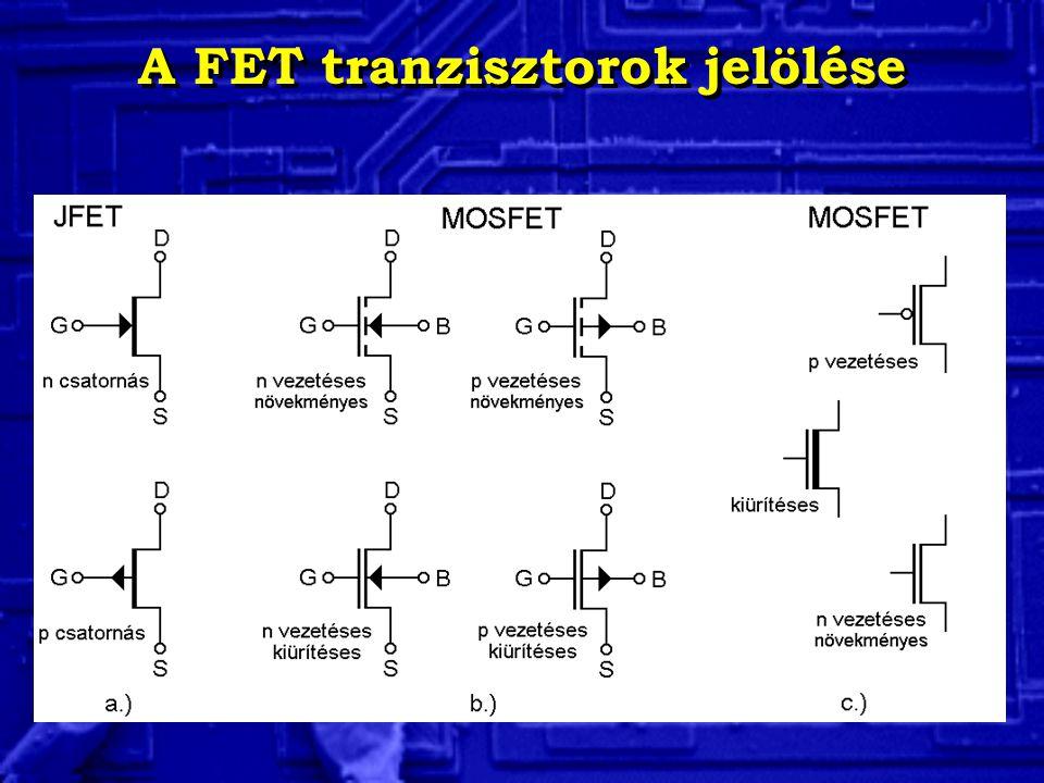 A FET tranzisztorok jelölése