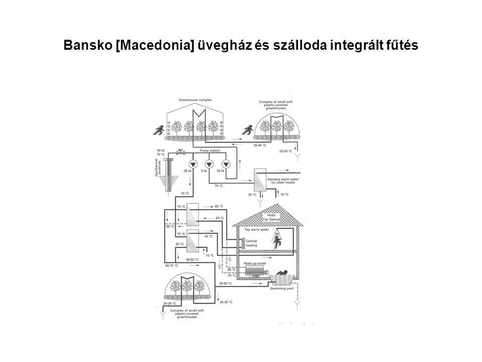Bansko [Macedonia] üvegház és szálloda integrált fűtés