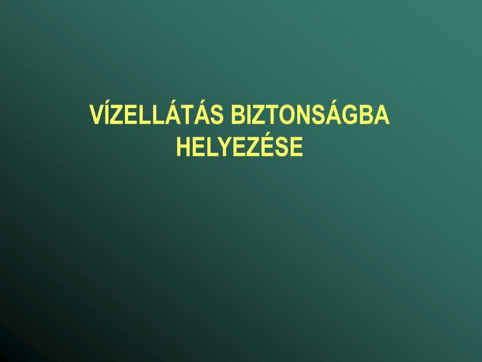 VÍZELLÁTÁS BIZTONSÁGBA HELYEZÉSE