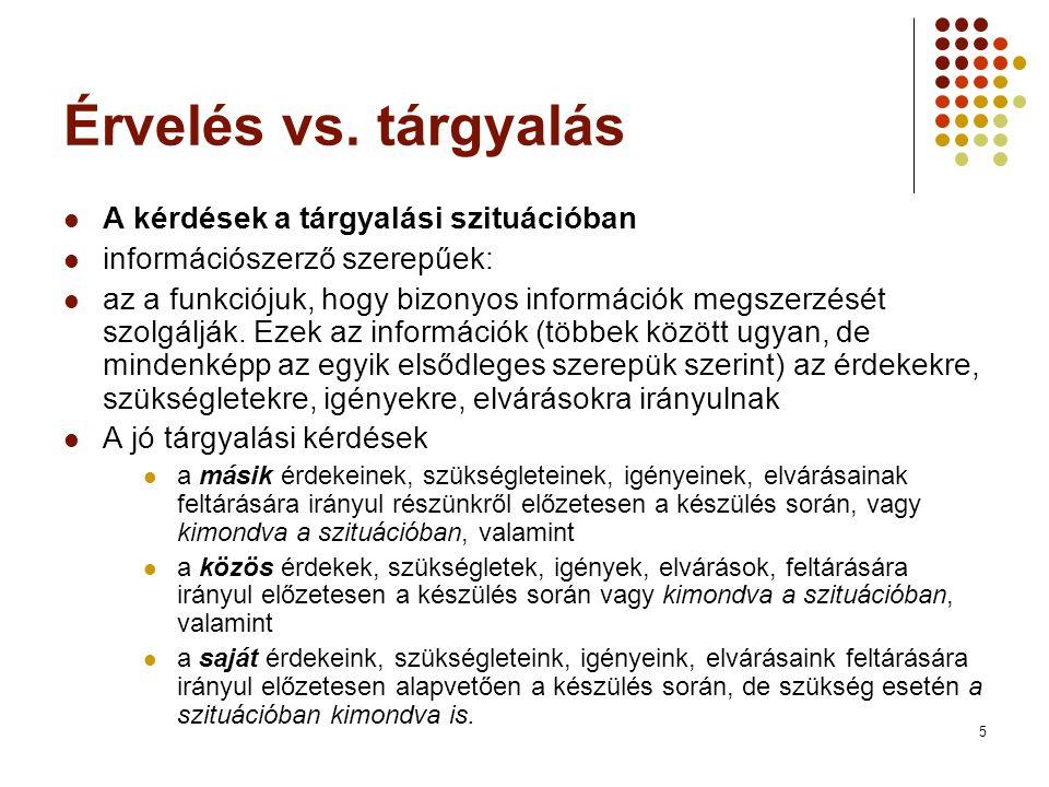 5 Érvelés vs.