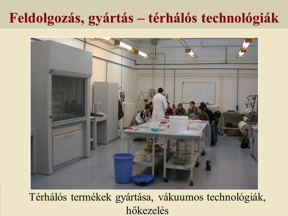 Feldolgozás, gyártás – térhálós technológiák Térhálós termékek gyártása, vákuumos technológiák, hőkezelés
