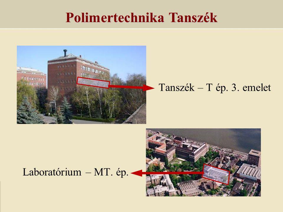 Polimertechnika Tanszék 4 egyetemi tanár3 tanársegéd 4 docens12 doktorandusz 6 adjunktus