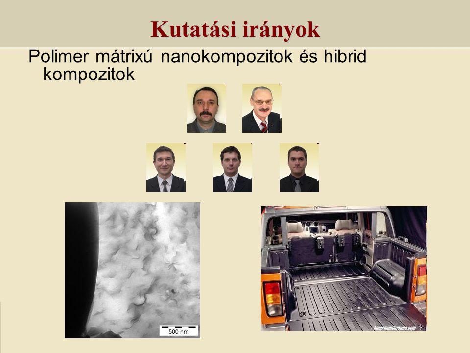 Polimer mátrixú nanokompozitok és hibrid kompozitok Kutatási irányok
