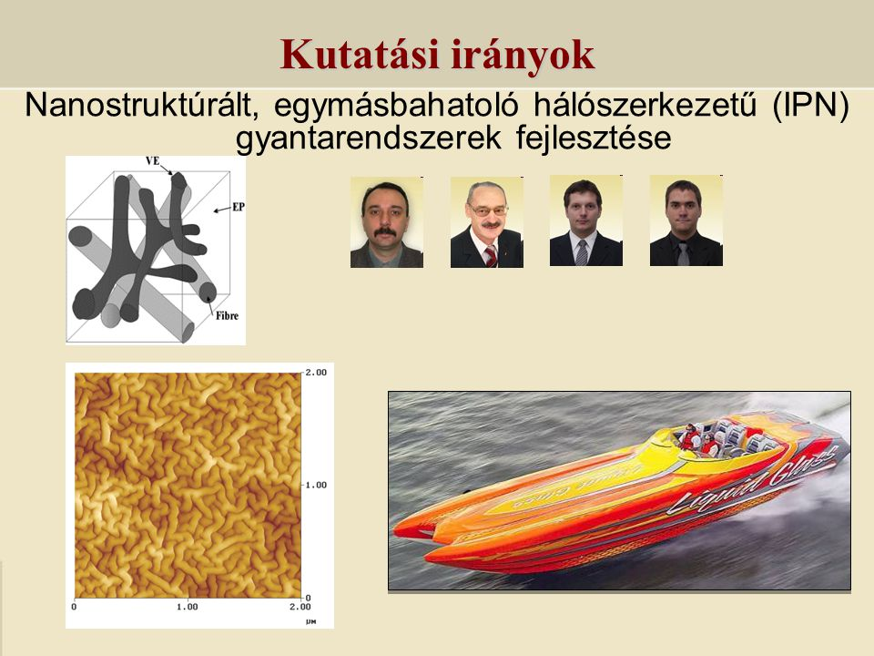 Nanostruktúrált, egymásbahatoló hálószerkezetű (IPN) gyantarendszerek fejlesztése Kutatási irányok
