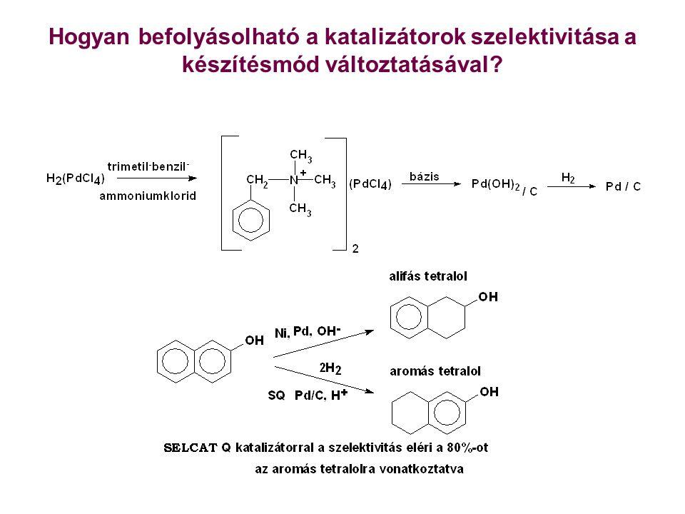 Hogyan befolyásolható a katalizátorok szelektivitása a készítésmód változtatásával?