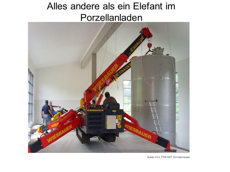 Alles andere als ein Elefant im Porzellanladen Quelle: kmm, FWA-WAT, Schrobenhausen.