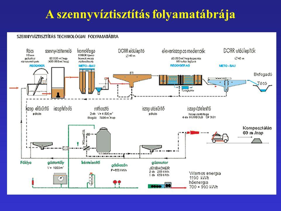 A szennyvíztisztítás folyamatábrája