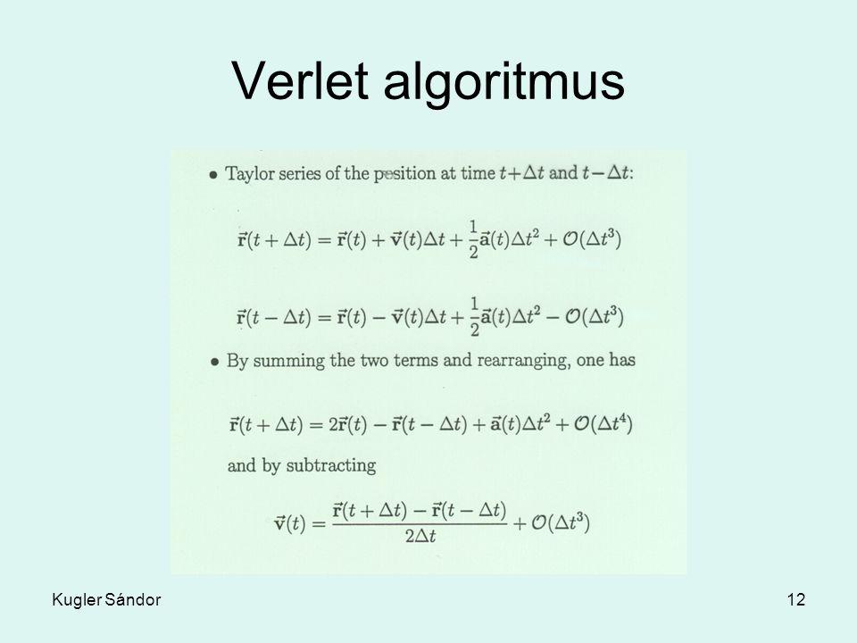 Kugler Sándor12 Verlet algoritmus