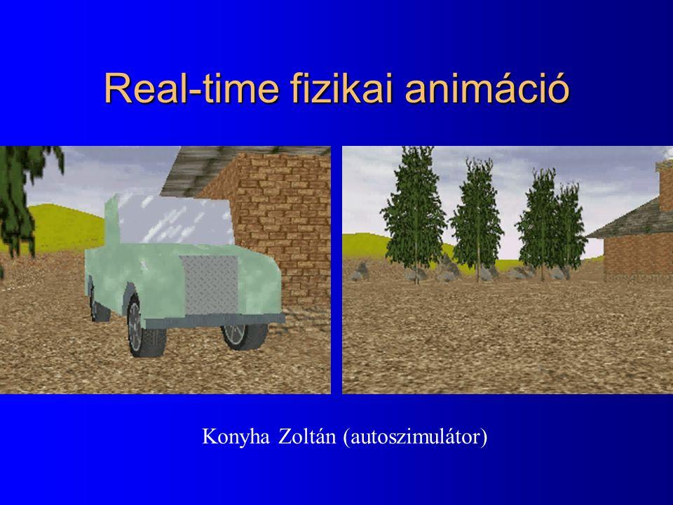Real-time fizikai animáció Konyha Zoltán (autoszimulátor)