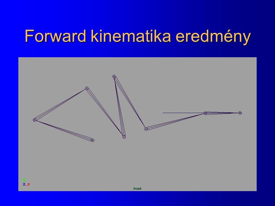 Forward kinematika eredmény