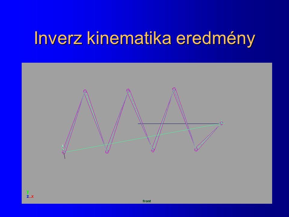Inverz kinematika eredmény