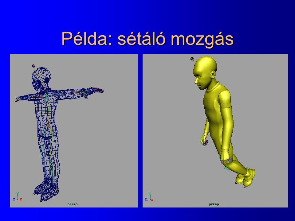 Példa: sétáló mozgás