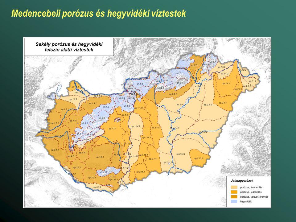 Medencebeli porózus és hegyvidéki víztestek