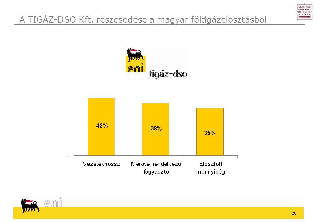 28 A TIGÁZ-DSO Kft. részesedése a magyar földgázelosztásból