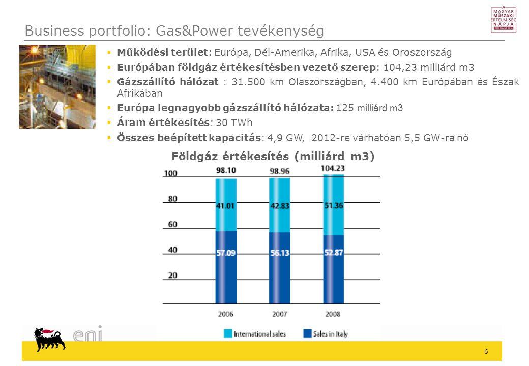 27 Eni a világban 1 3 A Tigáz az energiahatékonyság területén 2 Az energiahatékonyság szerepe a globális energetikai szcenárióban Tartalom 4 Visszacsatolás – fogyasztások elemzése