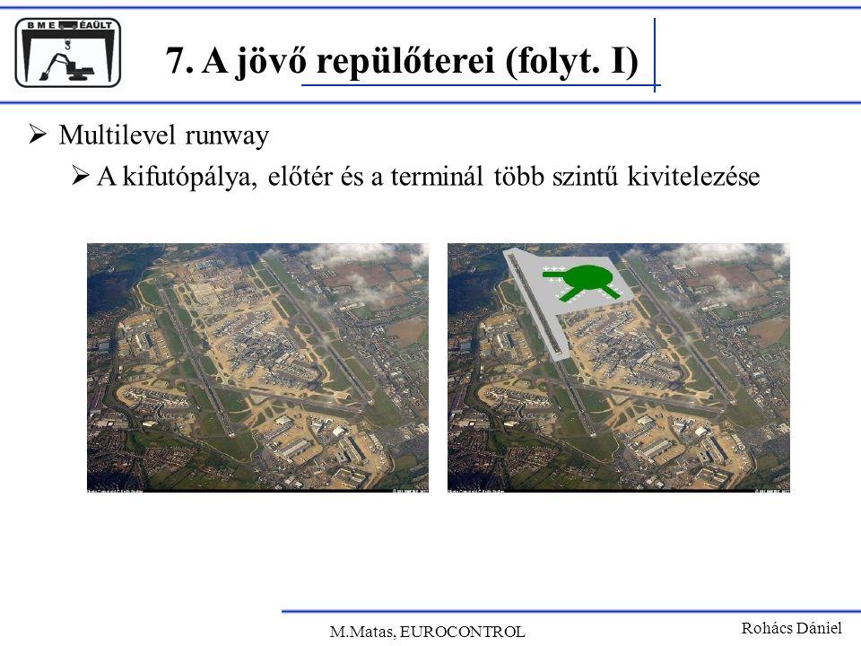 7. A jövő repülőterei (folyt. I) Rohács Dániel  Multilevel runway  A kifutópálya, előtér és a terminál több szintű kivitelezése M.Matas, EUROCONTROL
