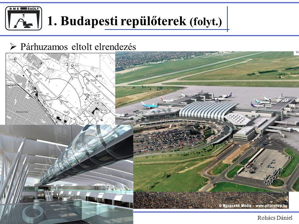 1. Budapesti repülőterek (folyt.) Rohács Dániel  Párhuzamos eltolt elrendezés