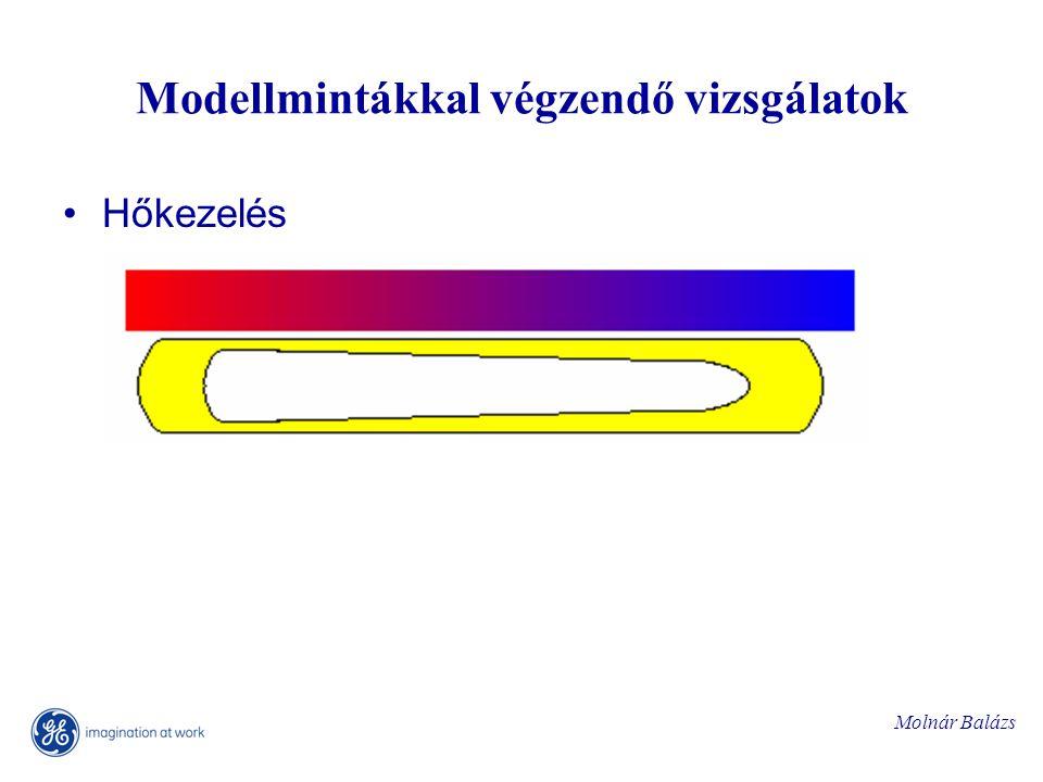 Molnár Balázs Modellmintákkal végzendő vizsgálatok Hőkezelés