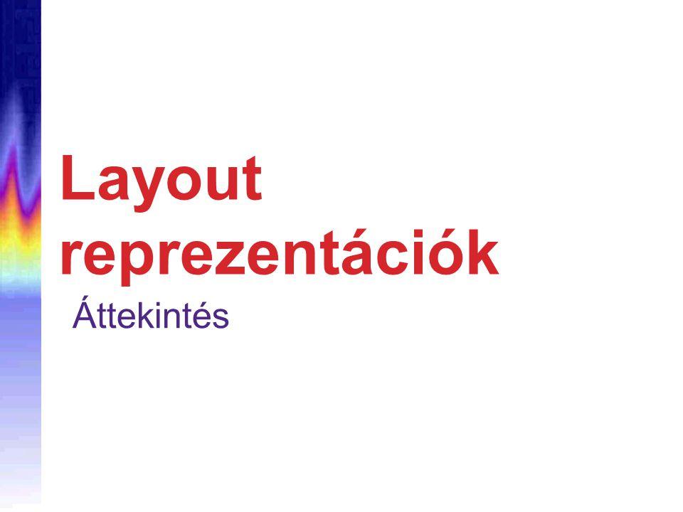 Layout reprezentációk Áttekintés