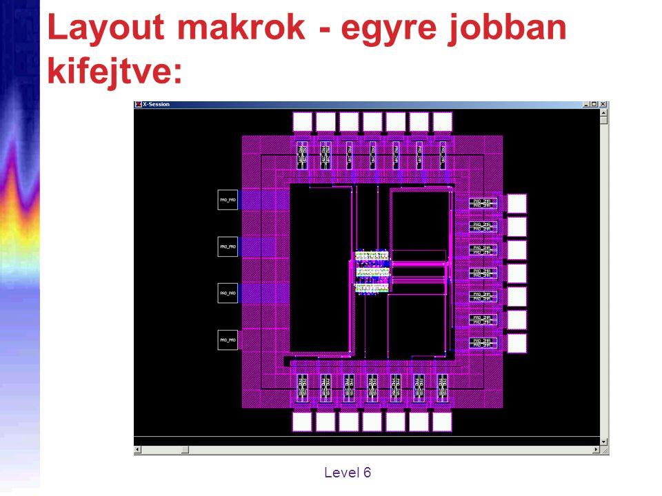 Layout makrok - egyre jobban kifejtve: Level 6