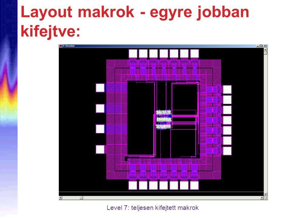Layout makrok - egyre jobban kifejtve: Level 7: teljesen kifejtett makrok