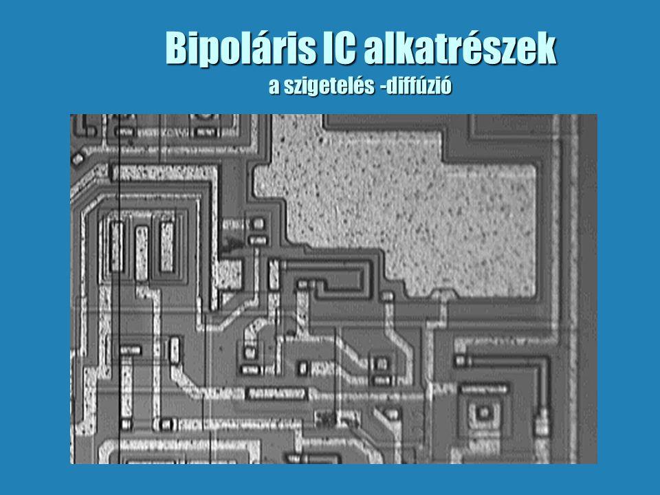 Bipoláris IC alkatrészek a szigetelés -diffúzió