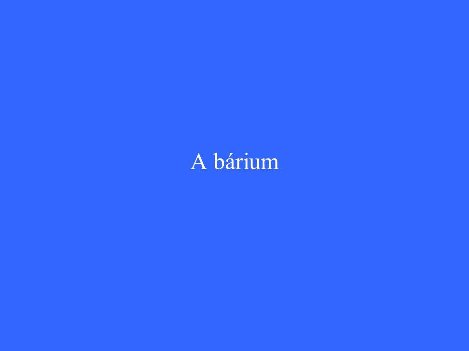 A bárium