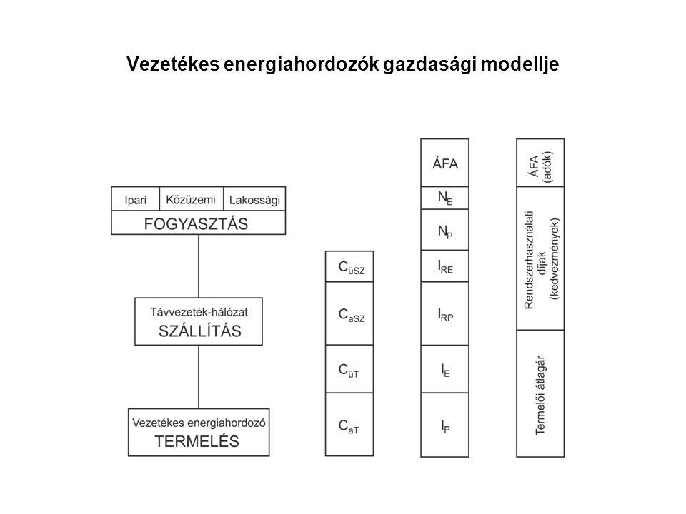 Vezetékes energiahordozók gazdasági modellje