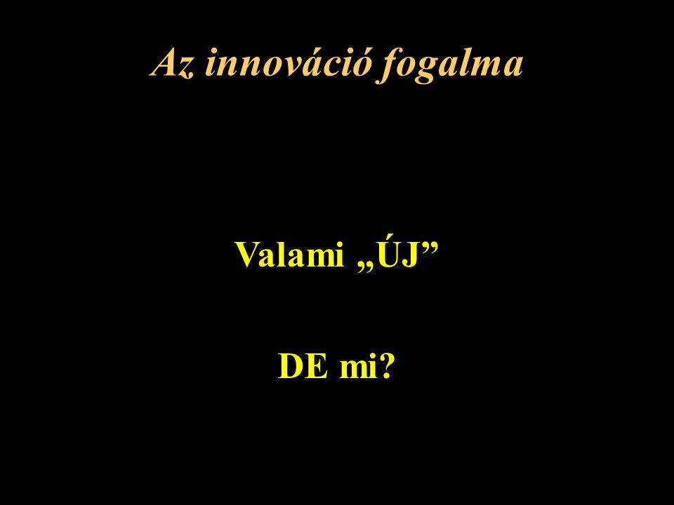 """Az innováció fogalma Valami """"ÚJ DE mi?"""