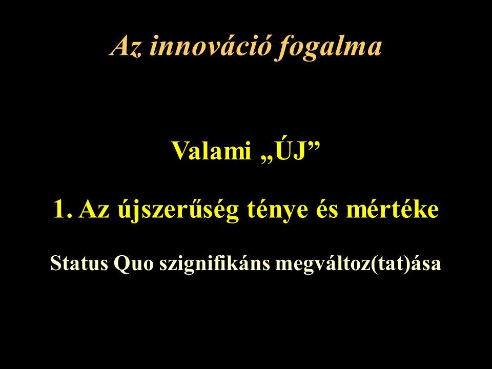 """Az innováció fogalma Valami """"ÚJ 1."""