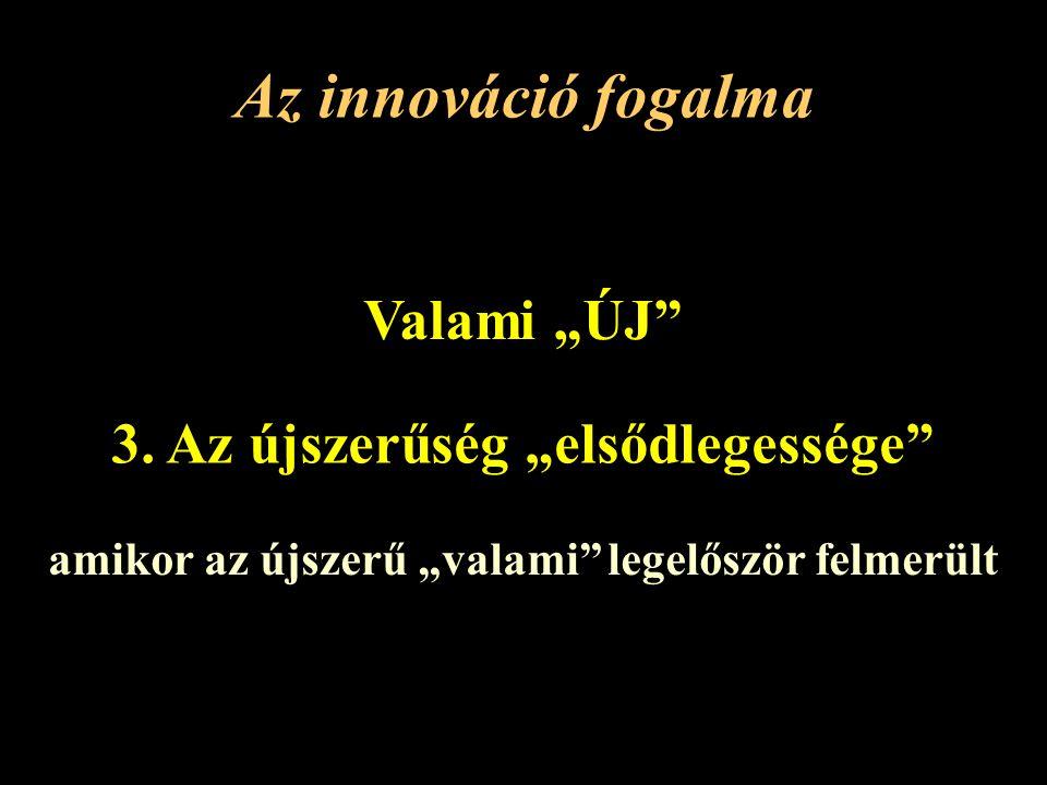 """Az innováció fogalma Valami """"ÚJ 3."""