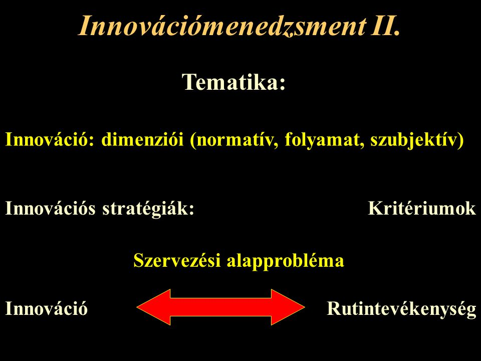 """Innovációs stratégiák Innováció imitálása Piacra lépés akadálya okamegkerülése Átállási költségekInkompatibilitás különböző gyártók termékeivel Felhasználó képzése Nagyobb ráfordítás a párhuzamos szerviztevékenység miatt Direkt: legkülönbözőbb csatlakozási lehetőségek figyelembe vétele A piacvezető """"szabványának átvétele Indirekt: """"felbujtás a szabvány felváltására"""