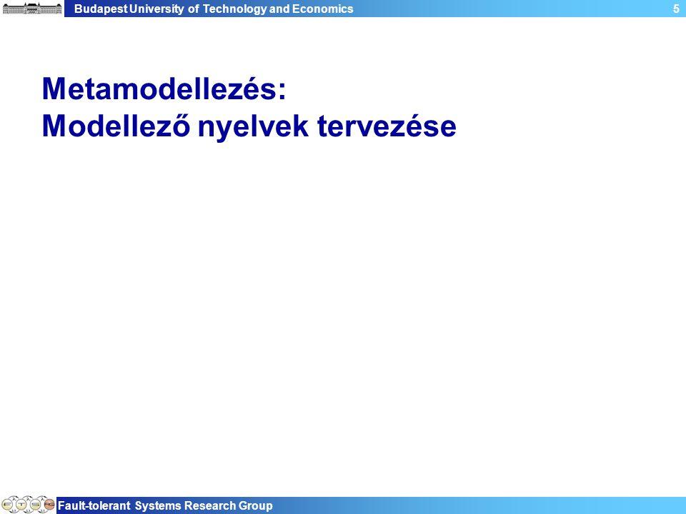 Budapest University of Technology and Economics Fault-tolerant Systems Research Group 5 Metamodellezés: Modellező nyelvek tervezése