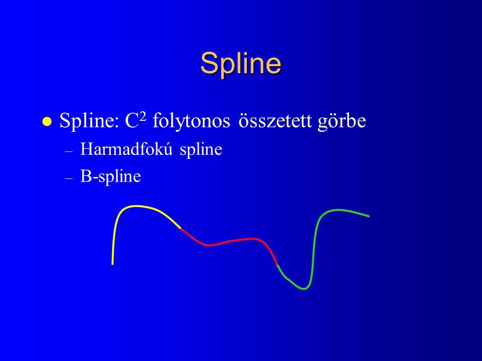 Spline l Spline: C 2 folytonos összetett görbe – Harmadfokú spline – B-spline
