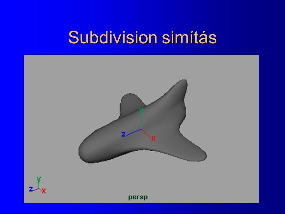 Subdivision simítás