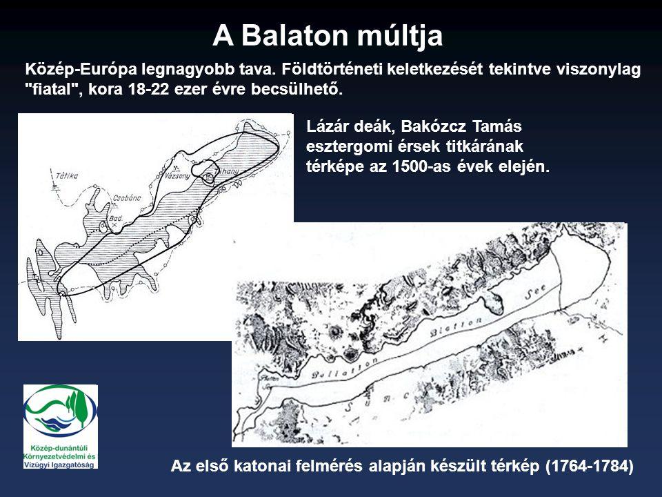 A Balaton múltja Lázár deák, Bakózcz Tamás esztergomi érsek titkárának térképe az 1500-as évek elején.