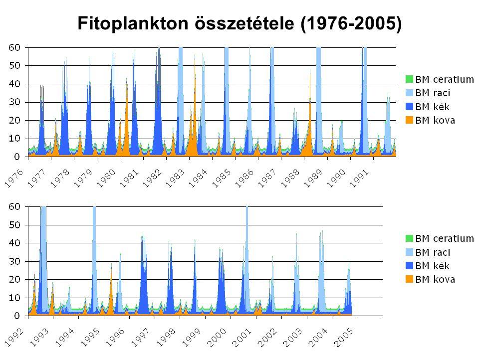 Fitoplankton összetétele (1976-2005)
