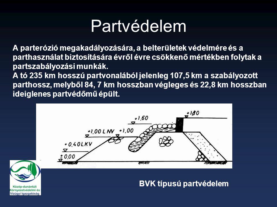 VÍZGYŰJTŐ: 5776 km 2 TÓ: 596 km 2 VÍZGYŰJTŐ  TÁPANYAGTERHELÉS  VÍZMINŐSÉG 8012 3.1 1.5 1 m 2 vízfelületre jutó vízgyűjtőterület (m 2 )